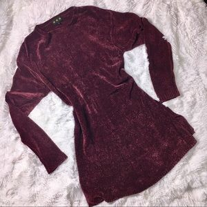 VINTAGE 90s Chenille Tunic Sweater